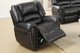 malta black leather glider recliner steal a sofa furniture