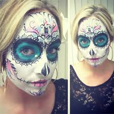 day of the dead dia de los muertos face painting on behance