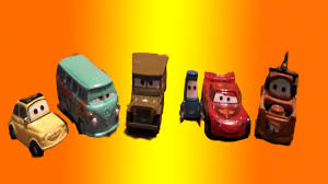 cars sarge and fillmore disney cars playset with lightning mcqueen tow mater sarge