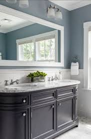 navy blue and white bathroom saw nail and paint bathrooms