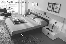 Modern Platform Bed With Lights - slide european designer modern platform bed with led lights by mobenia