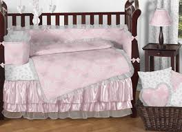 Pink And Gray Comforter Pink And Gray Alexa Butterfly Baby Bedding 9pc Crib Set By Sweet