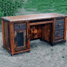 Reclaimed Office Furniture by Roads Barnwood Computer Desk