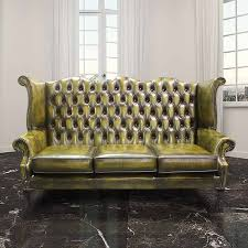 Chesterfield Sofa Antique Gold Chesterfield 3 Seater High Back Chair Designersofas4u