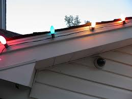 using our new light hangers for shingled roof lines