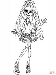 monster high skelita coloring page free printable coloring pages