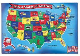 usa map jigsaw puzzle by hamilton grovely 2 map usa jigsaw major tourist attractions maps
