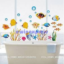 diy tropical fish wall stickers decal for kids home decor