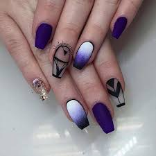 50 coffin nail art designs coffin nails ombre and purple