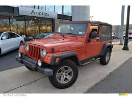 orange jeep 2006 impact orange jeep wrangler unlimited rubicon 4x4 59859964