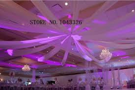 wedding draping fabric wedding event decor ceiling fabric sheer draping 0 45m 8m 12pcs