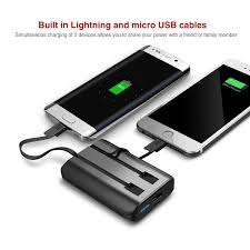 amazon com iwalk 10000 mah power bank with lightning u0026 micro usb