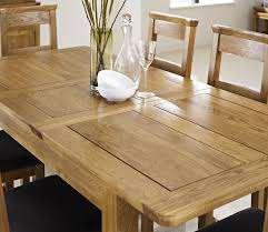 London Dark Oak Extending Dining Table With Four Chairs Package - Rustic oak kitchen table