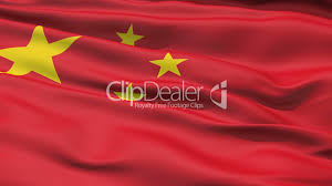 realistic 3d seamless looping china flag waving in the wind