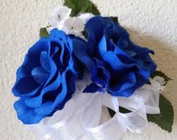 royal blue corsage royal blue corsage etsy