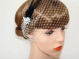 1920 hair accessories birdcage veil black feather bridal fascinator bridal headpiece