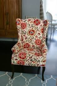 Printed Fabric Armchairs Fabric Chairs Foter