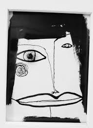 original abstract black and white painting 1947 032814 modern art
