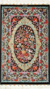 small scatter size persian qum silk rug 49410 nazmiyal rugs