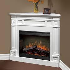 decor white corner gas fireplace