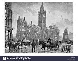 Victorian Era Manchester Town Hall Victorian Era Neo Gothic Architecture