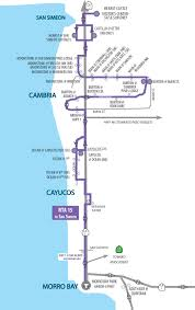 San Jose Bus Routes Map by Route 15 Morro Bay Cayucos Cambria San Simeon San Luis Obispo