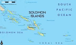 Oceania Map Road Map Of Solomon Islands And Solomon Islands Road Maps