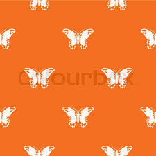 admiral butterfly pattern repeat seamless in orange color for any