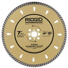 Rigid 7 Tile Saw Stand by Ridgid 7 In Diamond Stone Blade For Cutting Granite Marble And