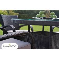 6 Seater Patio Furniture Set - beautiful garden furniture round table comprising of chairs and