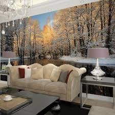 Birch Tree Decor Aliexpress Com Buy Winter Nature Landscape Home Decor Living