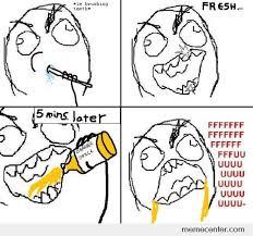Brushing Teeth Meme - drinking orange juice after brushing teeth by ben meme center