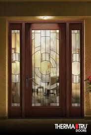fiberglass front doors with glass therma tru 8 u00270