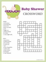 baby shower crossword