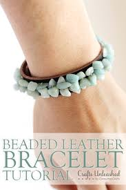 beading leather bracelet images Leather bracelets for women stone bead jewelry tutorial jpg