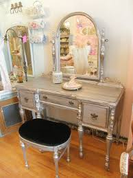 Silver Bedroom Vanity Vintage Bedroom Vanity Table Metallic Paint Vintage Chic