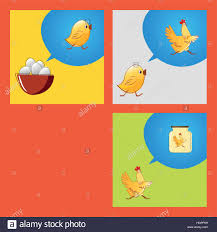 from egg to food vector sketch meaning of life stock vector art