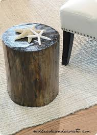 Tree Stump Side Table Rustic Tree Stump Side Table