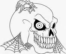 draw grim reaper face step grim reapers hooded black
