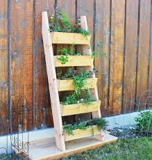 herb garden planter ana white cedar vertical tiered ladder garden planter diy projects