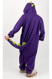 Halloween Onesie Costumes Purple Dinosaur Kigurumi Halloween Onesie 4kigurumi