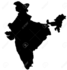 Blank India Map by Map Clipart Black And White