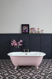 pink and black bathroom ideas bathroom pink porcelain bathup pattern tile floor bathroom grey