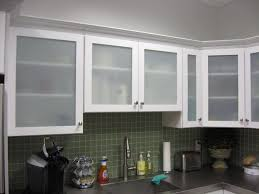 amazing glass frosted kitchen cabinet door with small brown wood