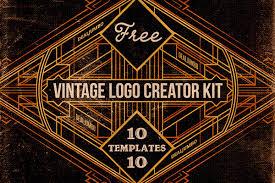 design a vintage logo free free vintage logo creator kit on behance