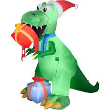 Christmas Outdoor Decorations Inflatables by Dinosaur Christmas Outdoor Inflatables Christmas Wikii