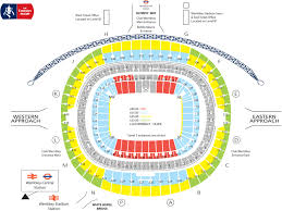 tottenham wembley seating plan away fans united v spurs fa cup semi final ticket news 27 march 2018