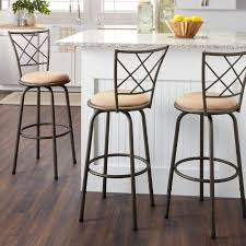 Height Of Stools For Kitchen by Swivel Bar Stool Set Of 3 Metal Adjustable Kitchen Counter Height