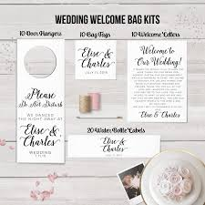 wedding hotel bags wedding welcome bag kits wedding hotel bag set wedding door