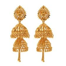 jhumka earring plated jhumka earrings by goldnera